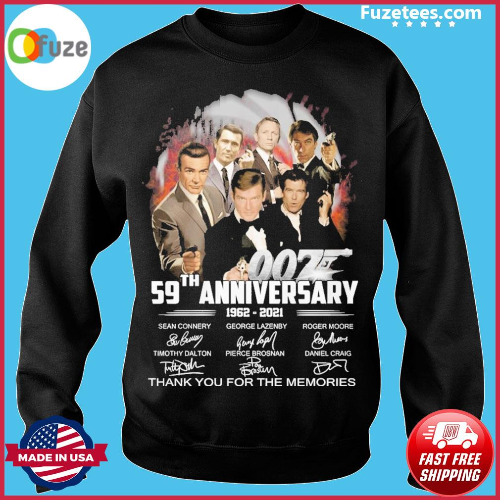 007 28th anniversary 1960 2021 signatures thank you for the memories s Sweater