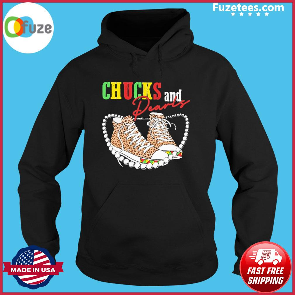Chucks and Pearls Leopard 2021 s Hoodie