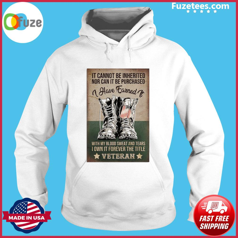 It cannot be Inherited nor can It be purchased I have earned It s Hoodie