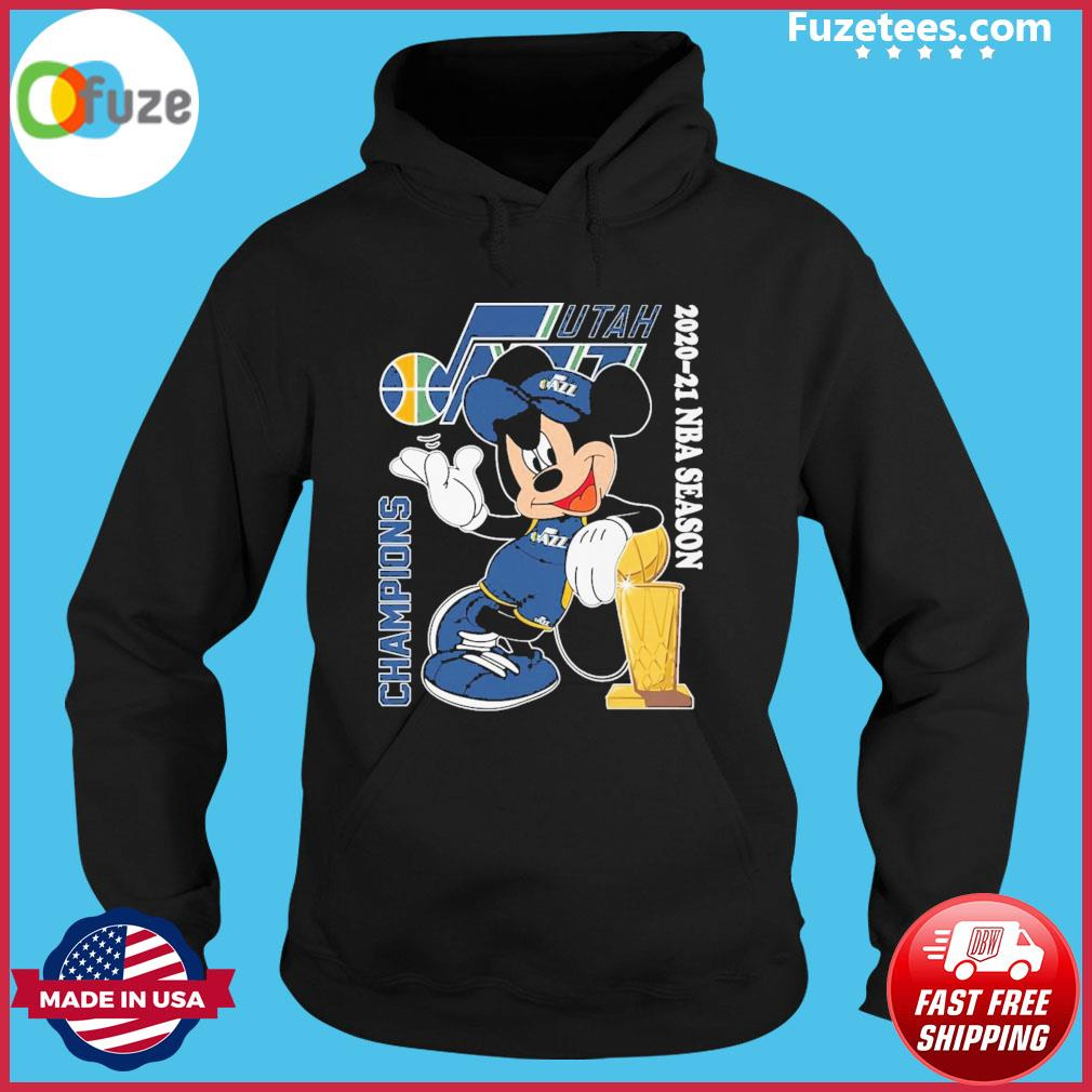 Mickey Mouse Champions 2020 2021 season Jazz s Hoodie