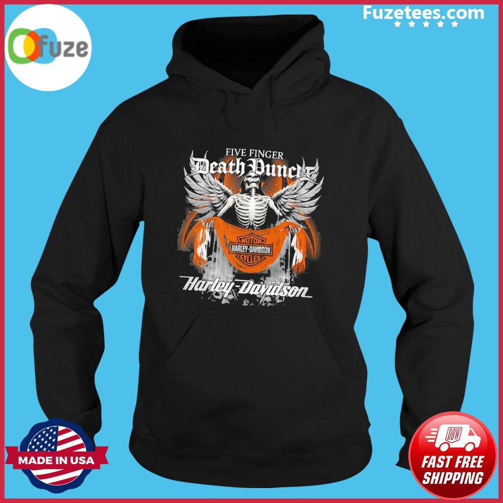 Skeleton five finger Death Duncle Motor Harley Davidson Cycles 2021 s Hoodie