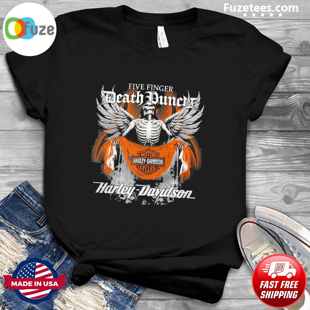 Skeleton five finger Death Duncle Motor Harley Davidson Cycles 2021 shirt