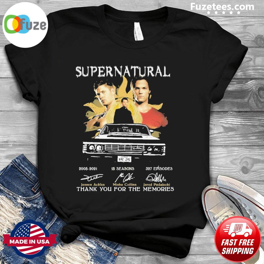 Supernatural 2021 signatures thank you for the memories shirt