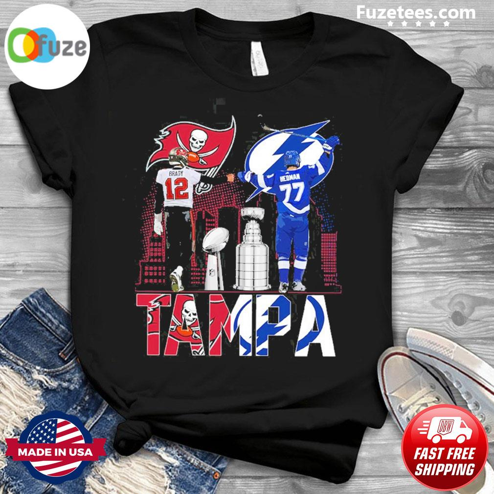 Brady and Redman Buccaneers and Tampa Lighting 2021 shirt