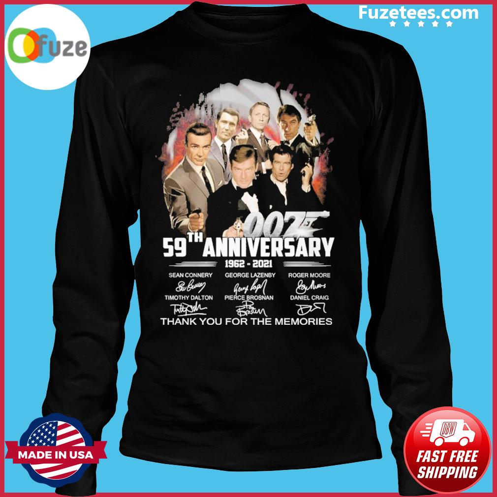 007 59th anniversary 1962 2021 signature thank you for the memories Long Sleeve