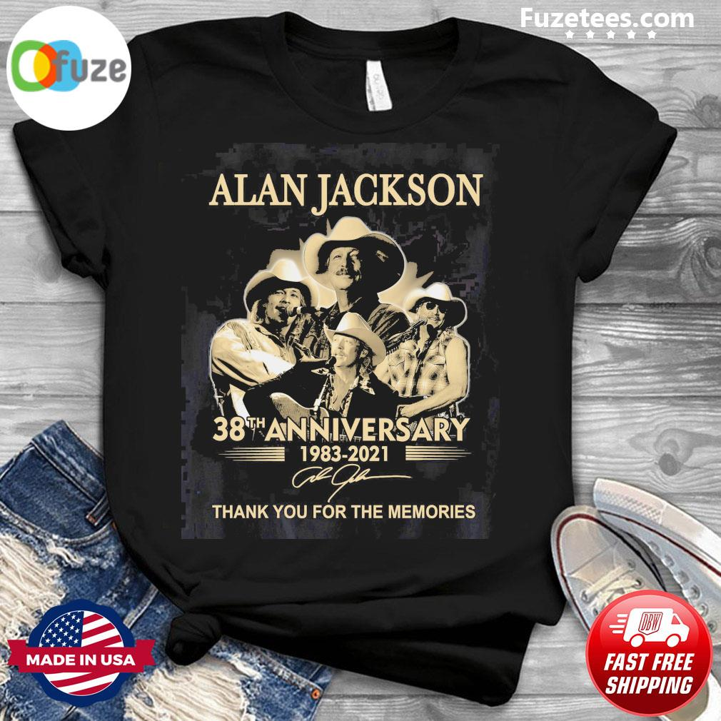Alan Jackson 38th anniversary 1983 2021 signature thank you for the memories shirt