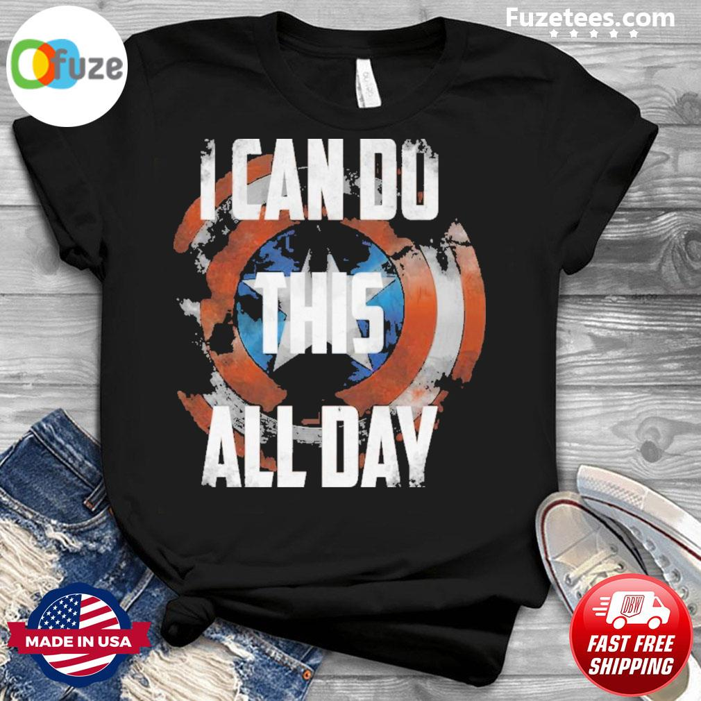 Captain america I can do this all day 2021 shirt