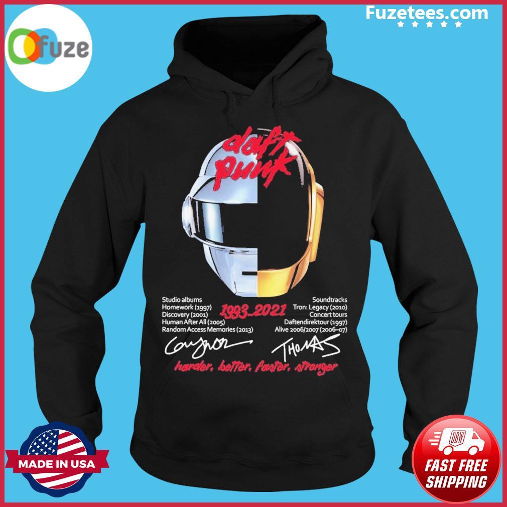 Daft Punk 1993 2021 signatures Hoodie
