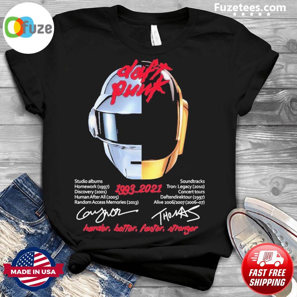 Daft Punk 1993 2021 signatures shirt