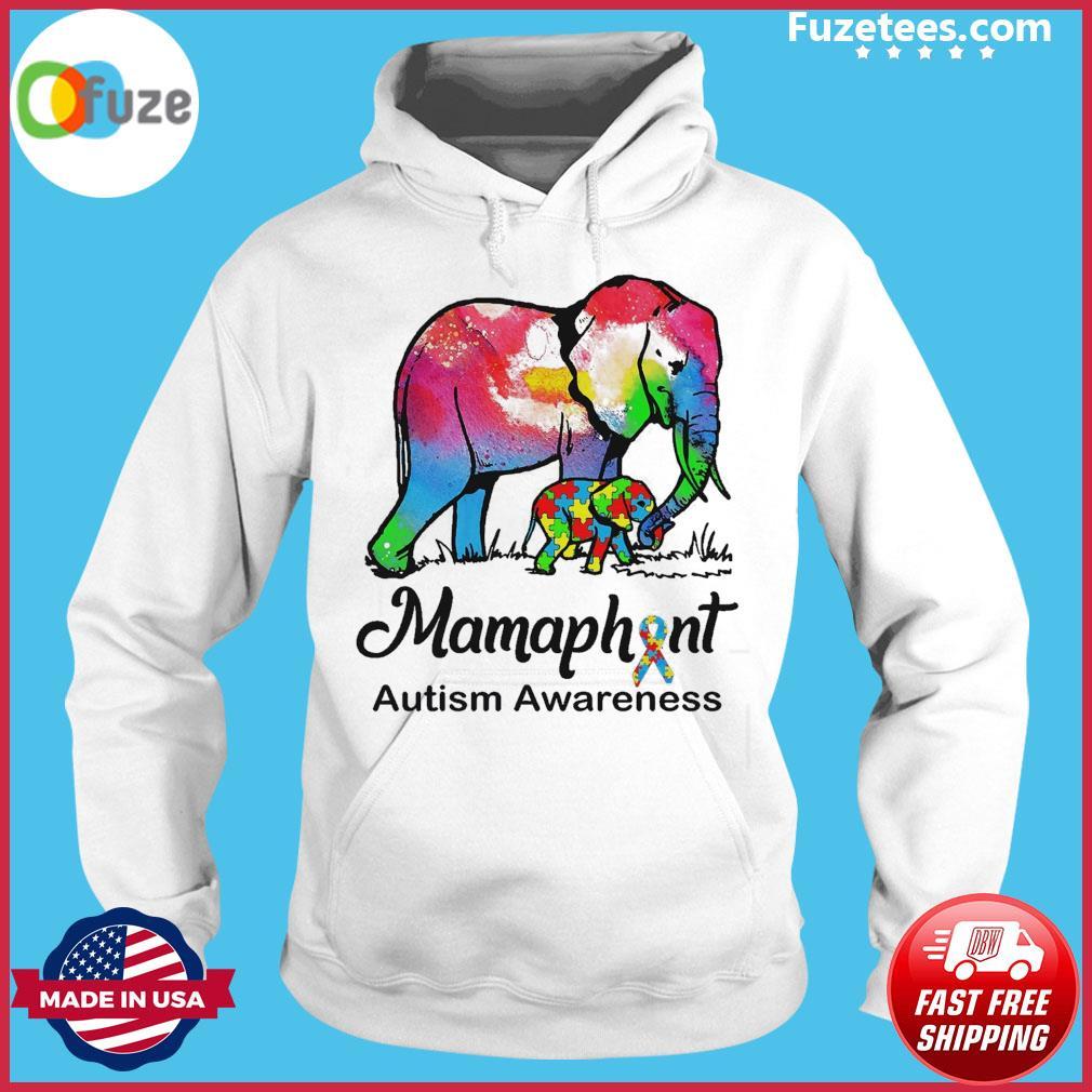 Elephants Mammaphant Autism Awareness Hoodie