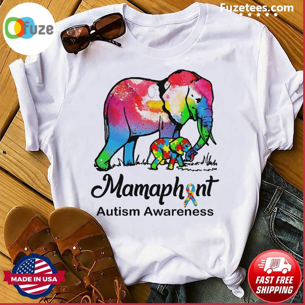 Elephants Mammaphant Autism Awareness shirt