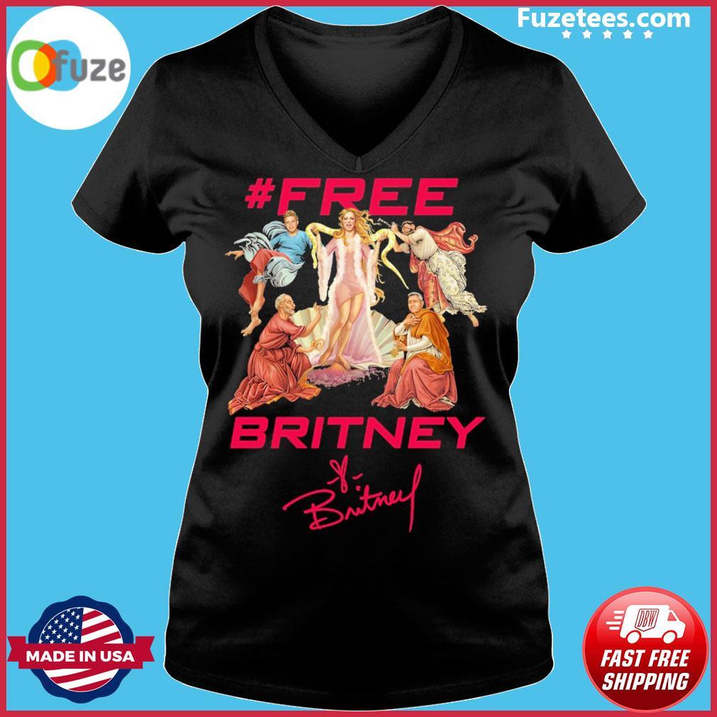 #Free Britney signatures Ladies V-neck