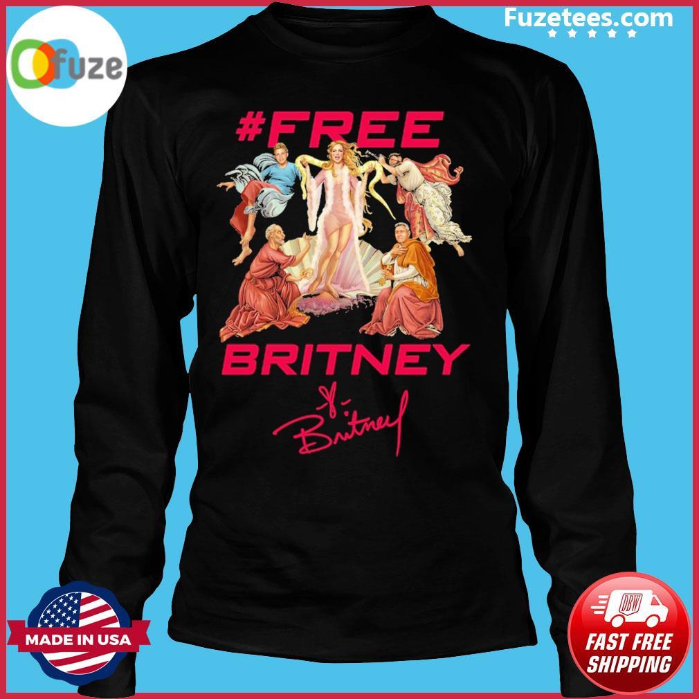#Free Britney signatures Long Sleeve