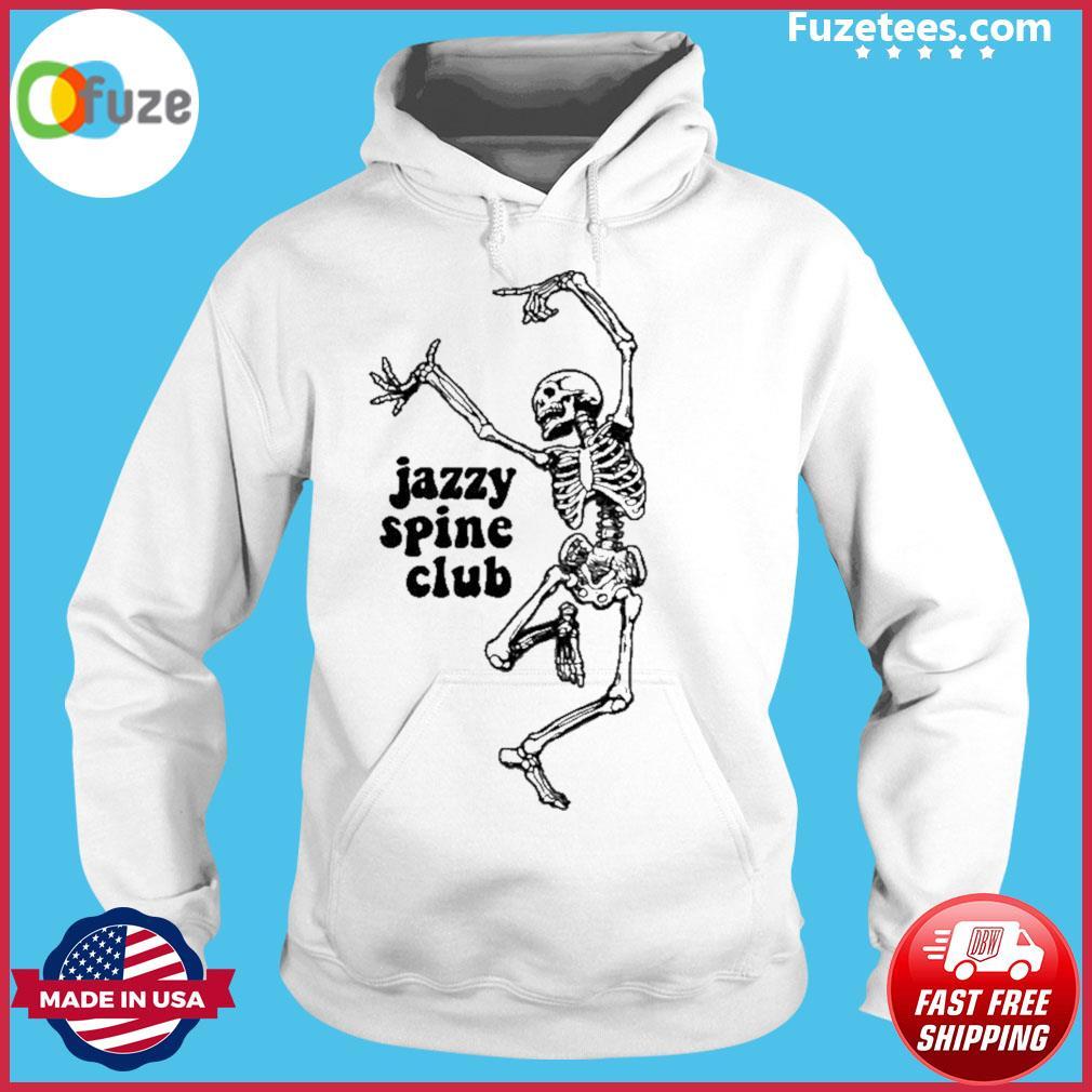 Skeleton jazzy spine club Hoodie