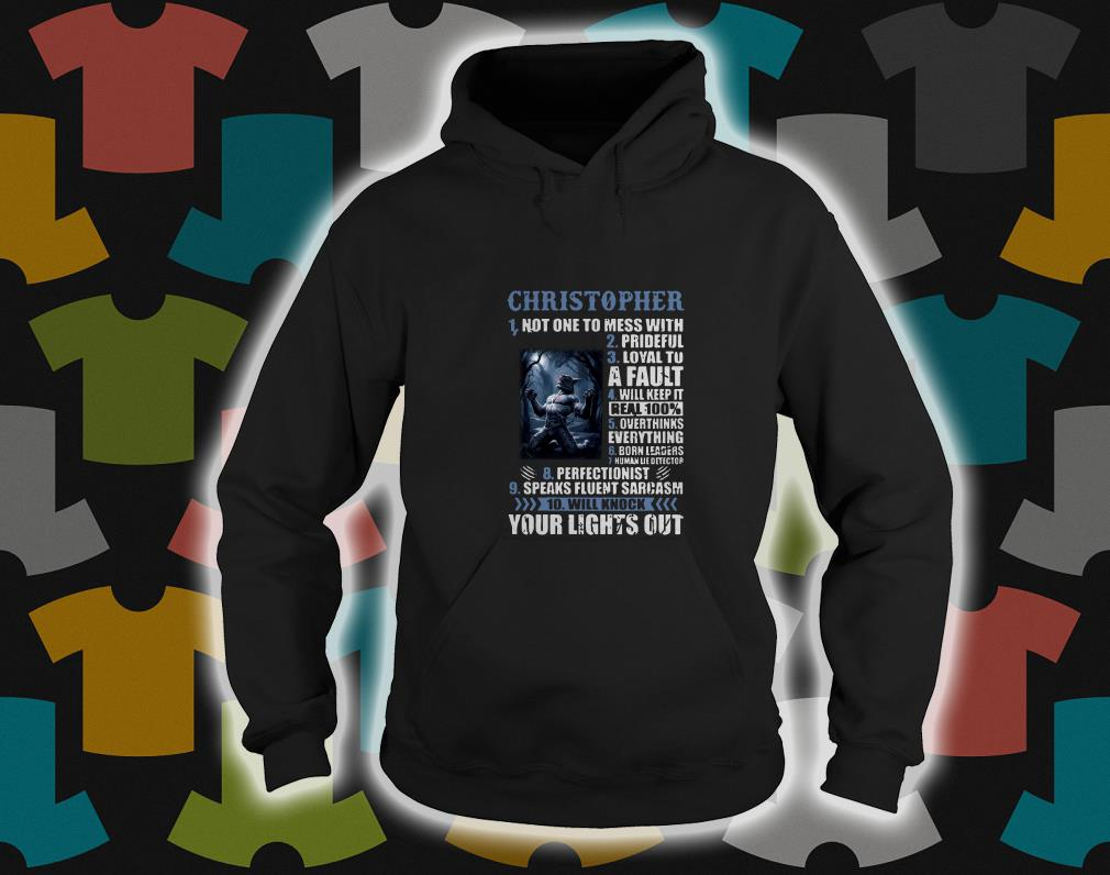 10 things Christopher your light out hoodie