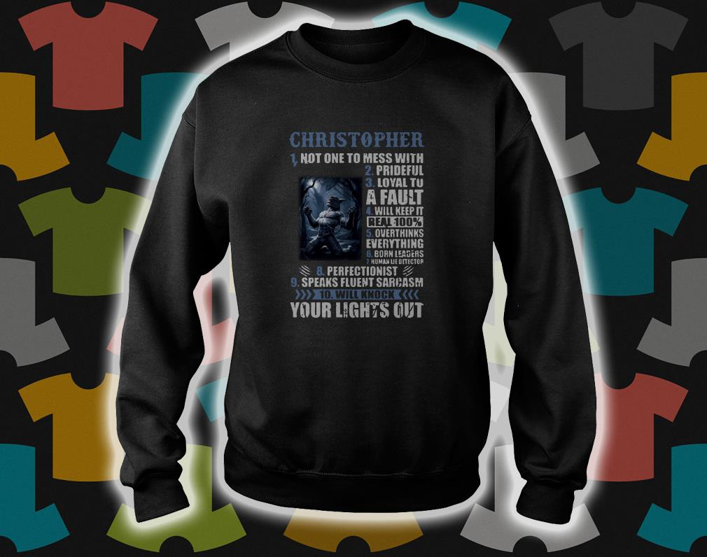10 things Christopher your light out sweater