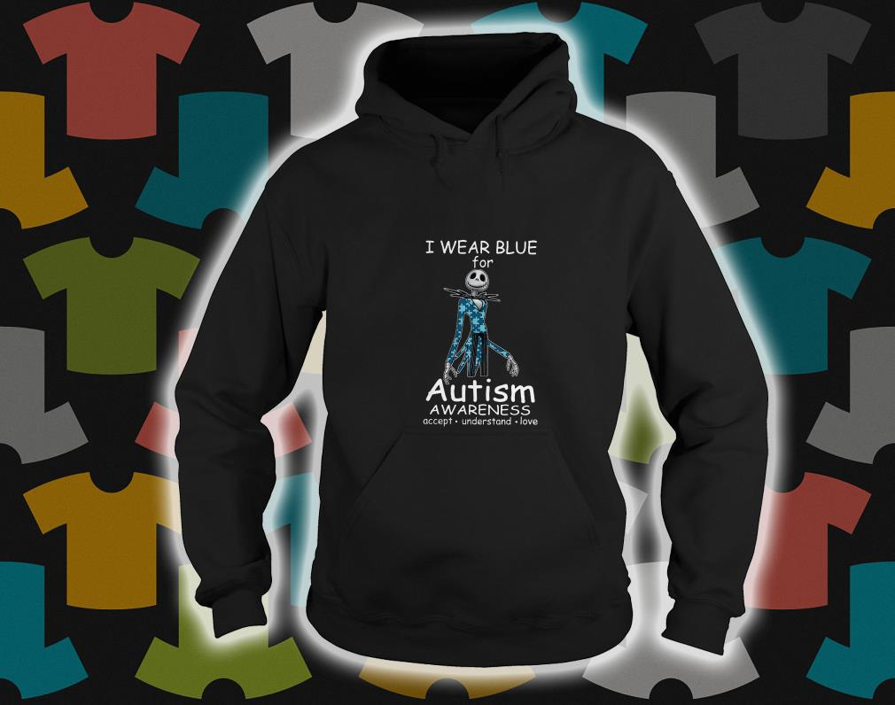 Jack skellington I wear blue for autism awareness hoodie