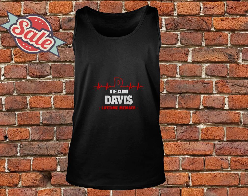 Team Davis lifetime member tank top