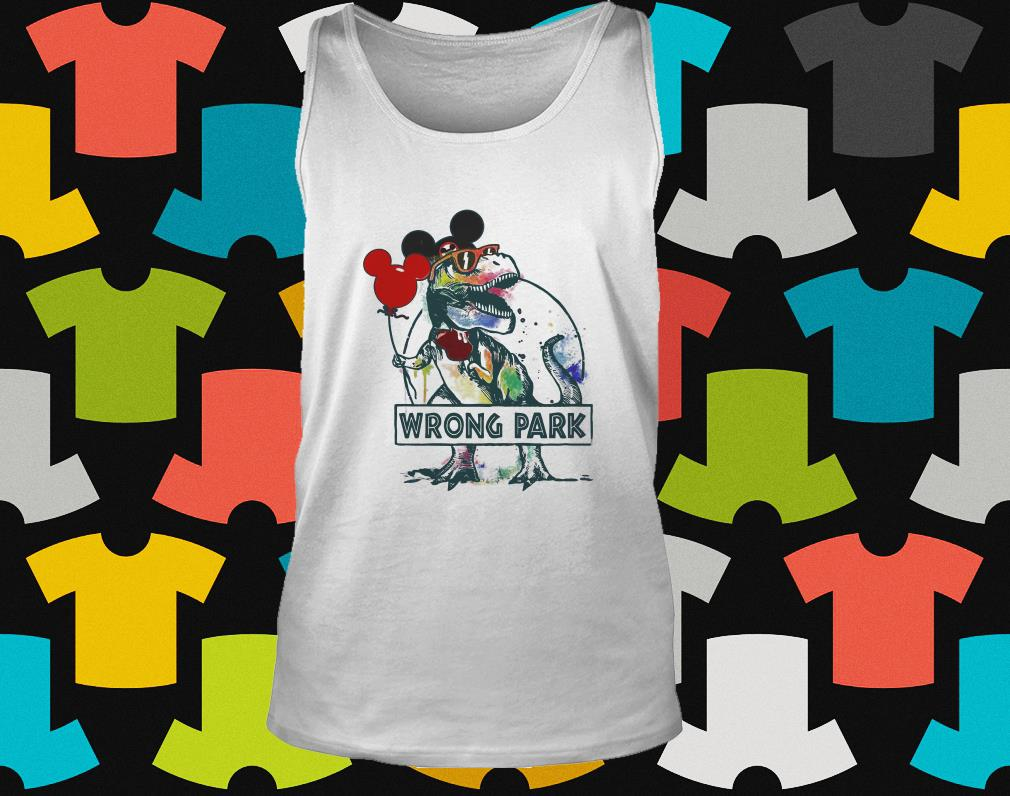 ec40bd482 Dinosaur T-rex and Mickey Mouse wrong Park shirt, hoodie, tank top, sweater  and ladies