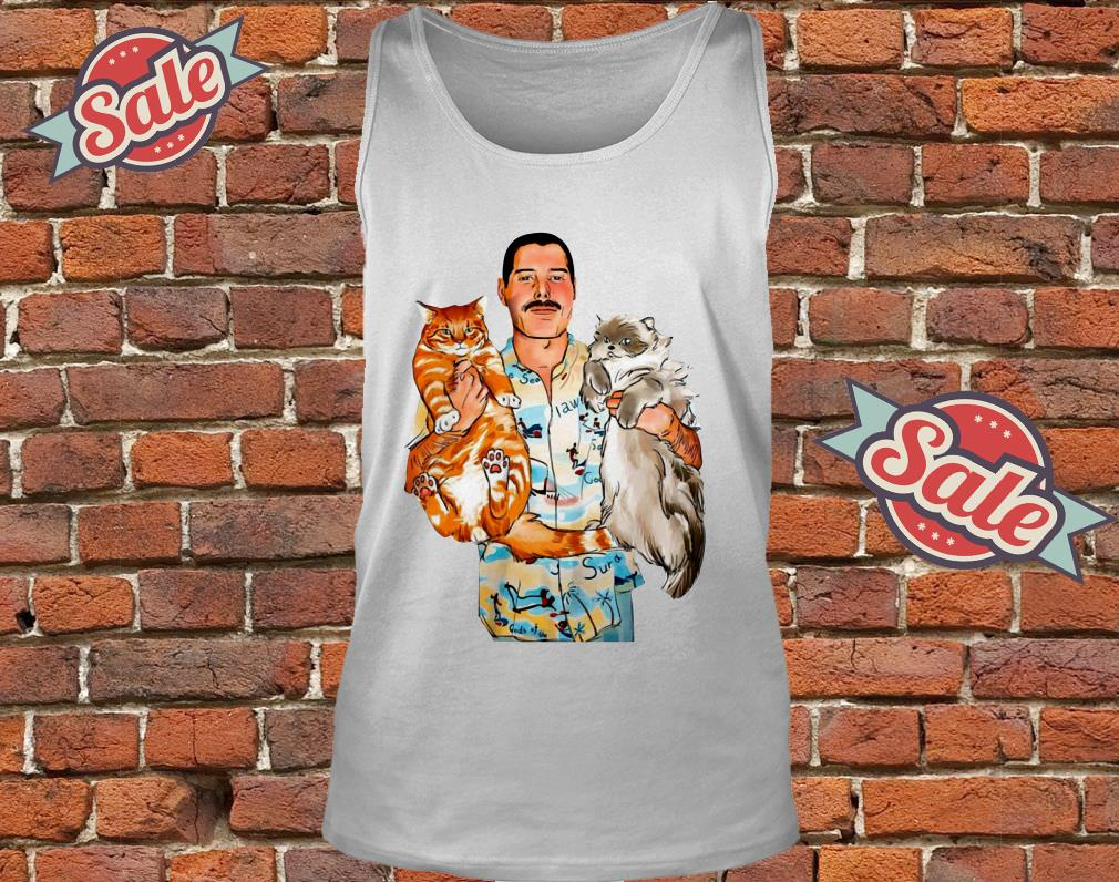 4c7a6f9d3ac4a Freddie Mercury With His Cats Shirt hoodie tank top and sweater