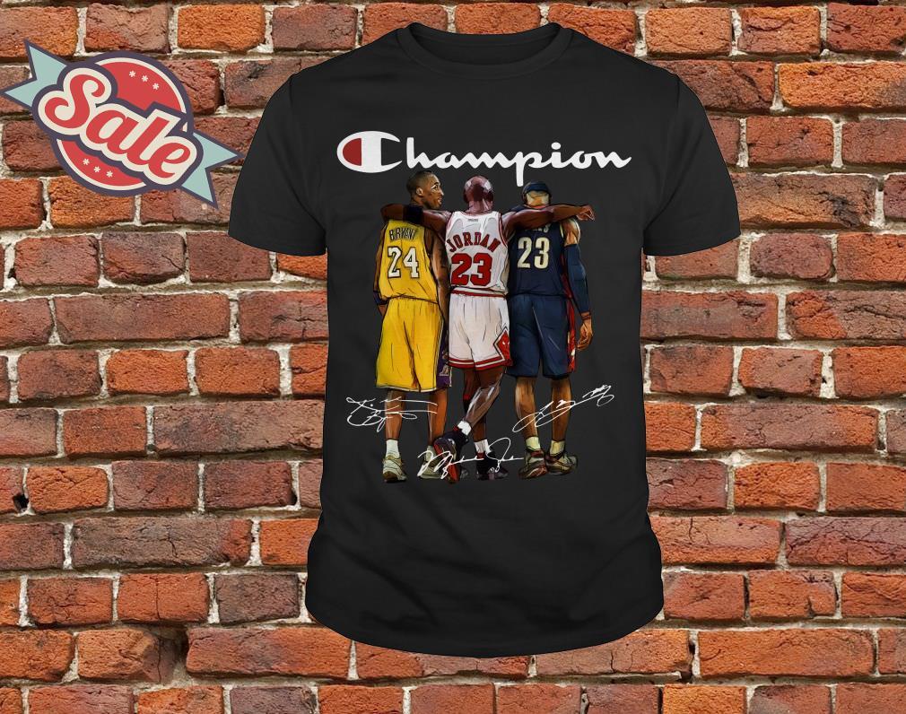 f1359b01 Kobe Bryant, Michael Jordan and LeBron James Champion shirt hoodie ...