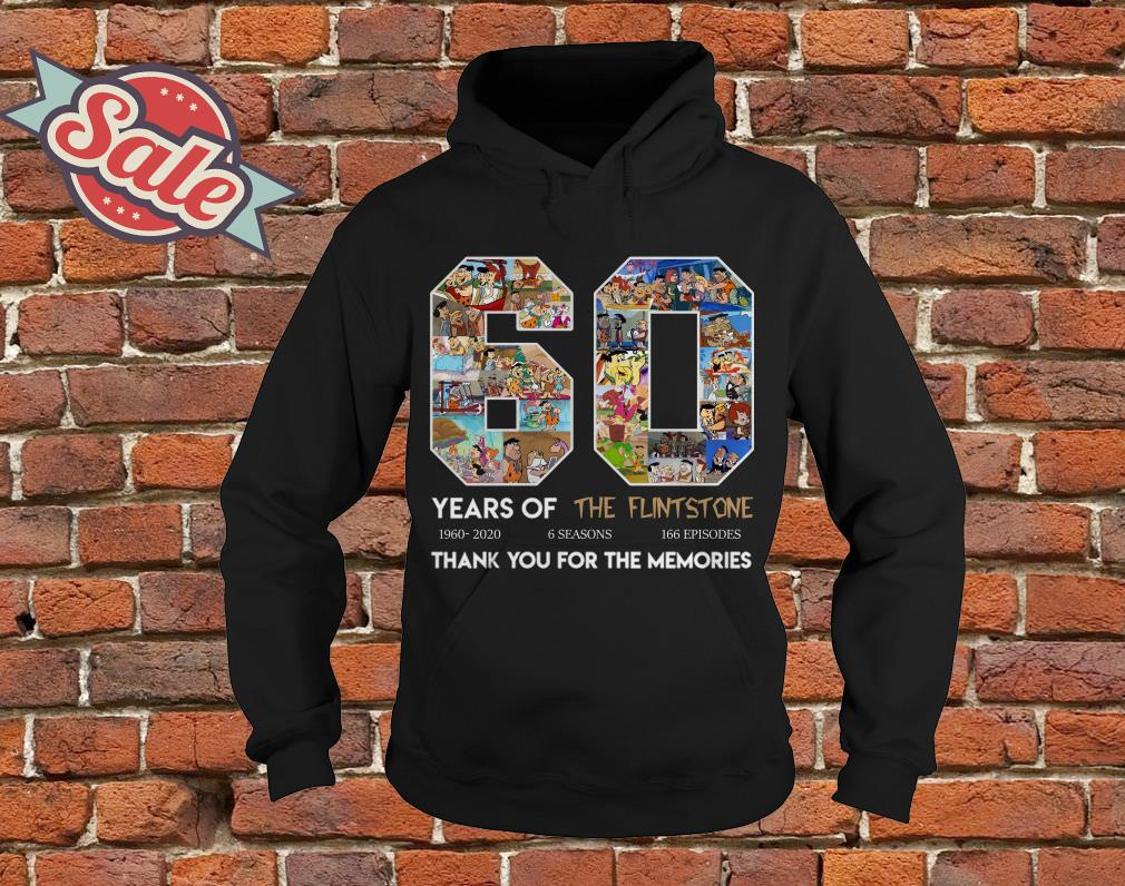 60 years of the Flintstone thank you for the memories hoodie
