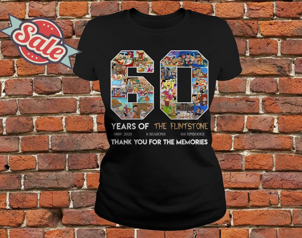 60 years of the Flintstone thank you for the memories ladies tee
