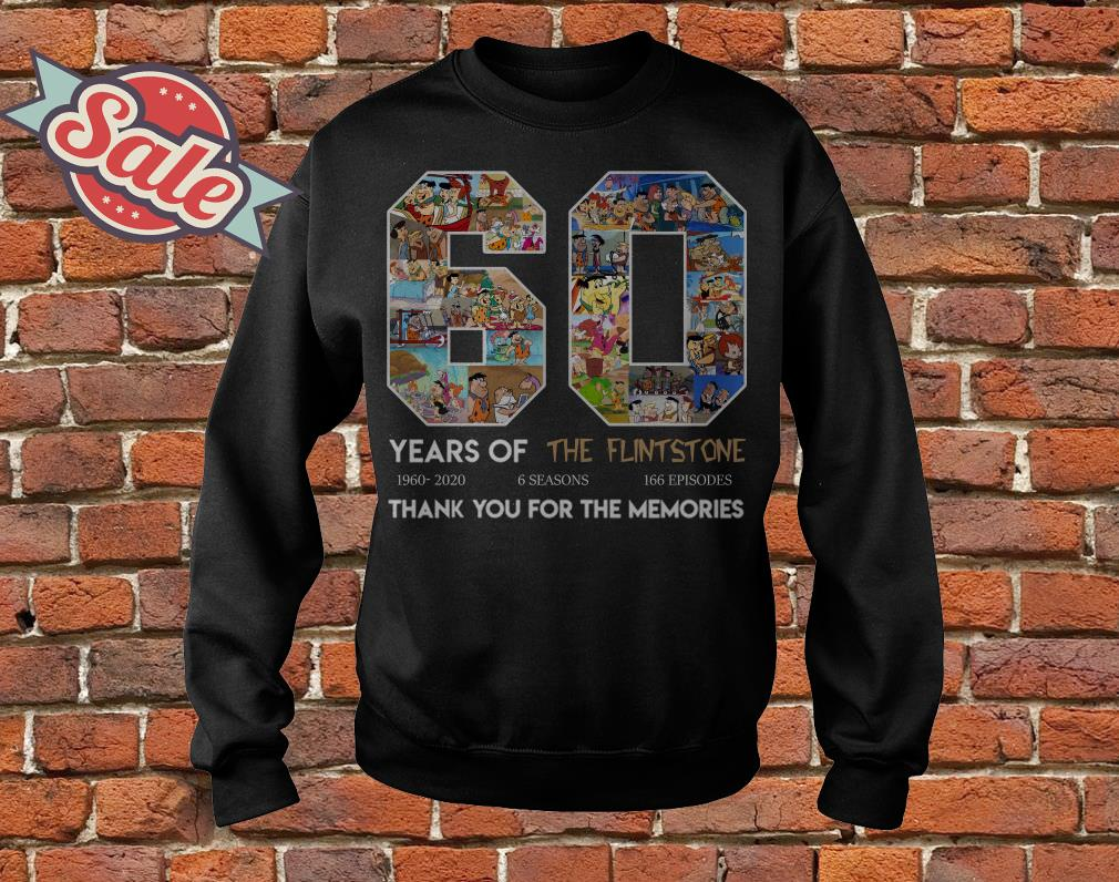 60 years of the Flintstone thank you for the memories sweater
