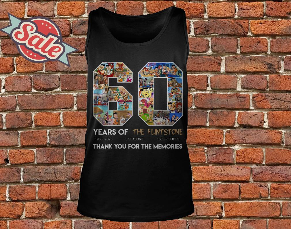 60 years of the Flintstone thank you for the memories tank top