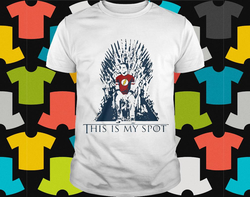 Sheldon Funny Game of Thrones IT/'S MY SPOT Mens T-Shirt Big Bang Theory