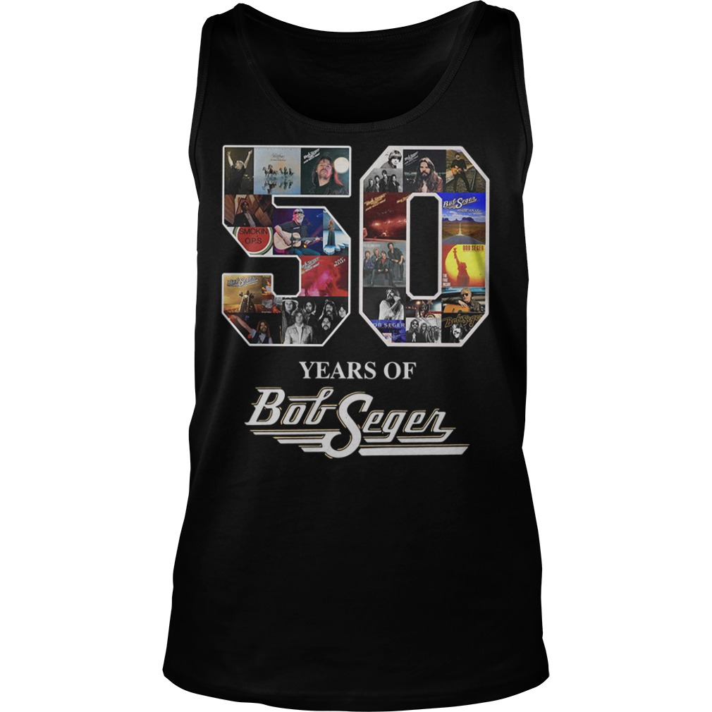 50 year of Bob Seger thank you for the memories tank top