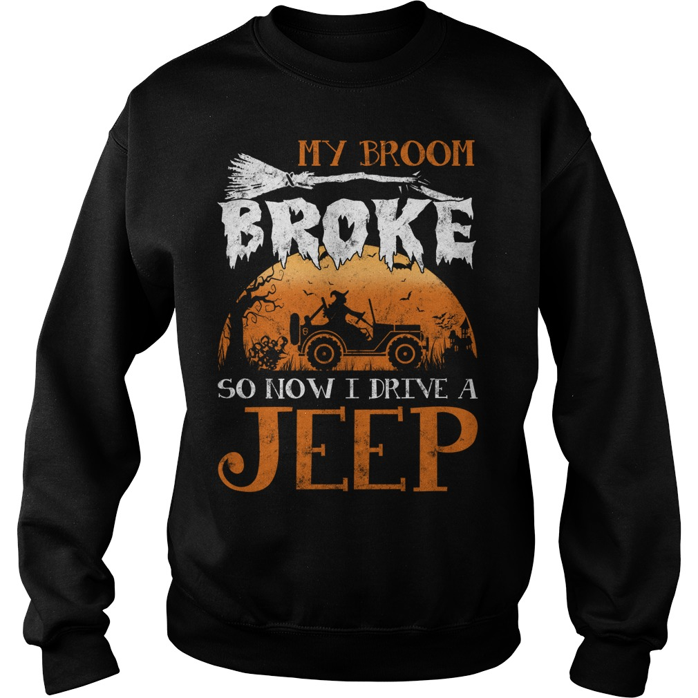 My Broom broke so now I drive a Jeep sweater