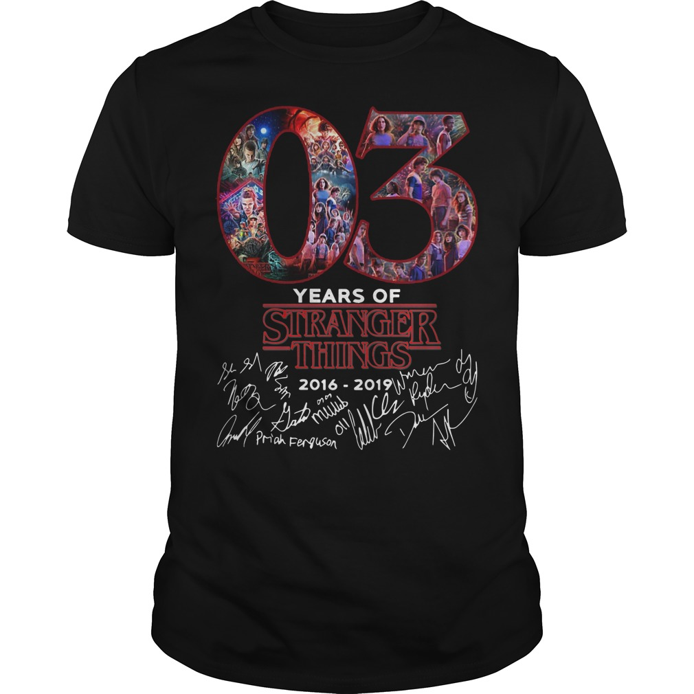 03 Years Of Stranger Things Signature Shirt