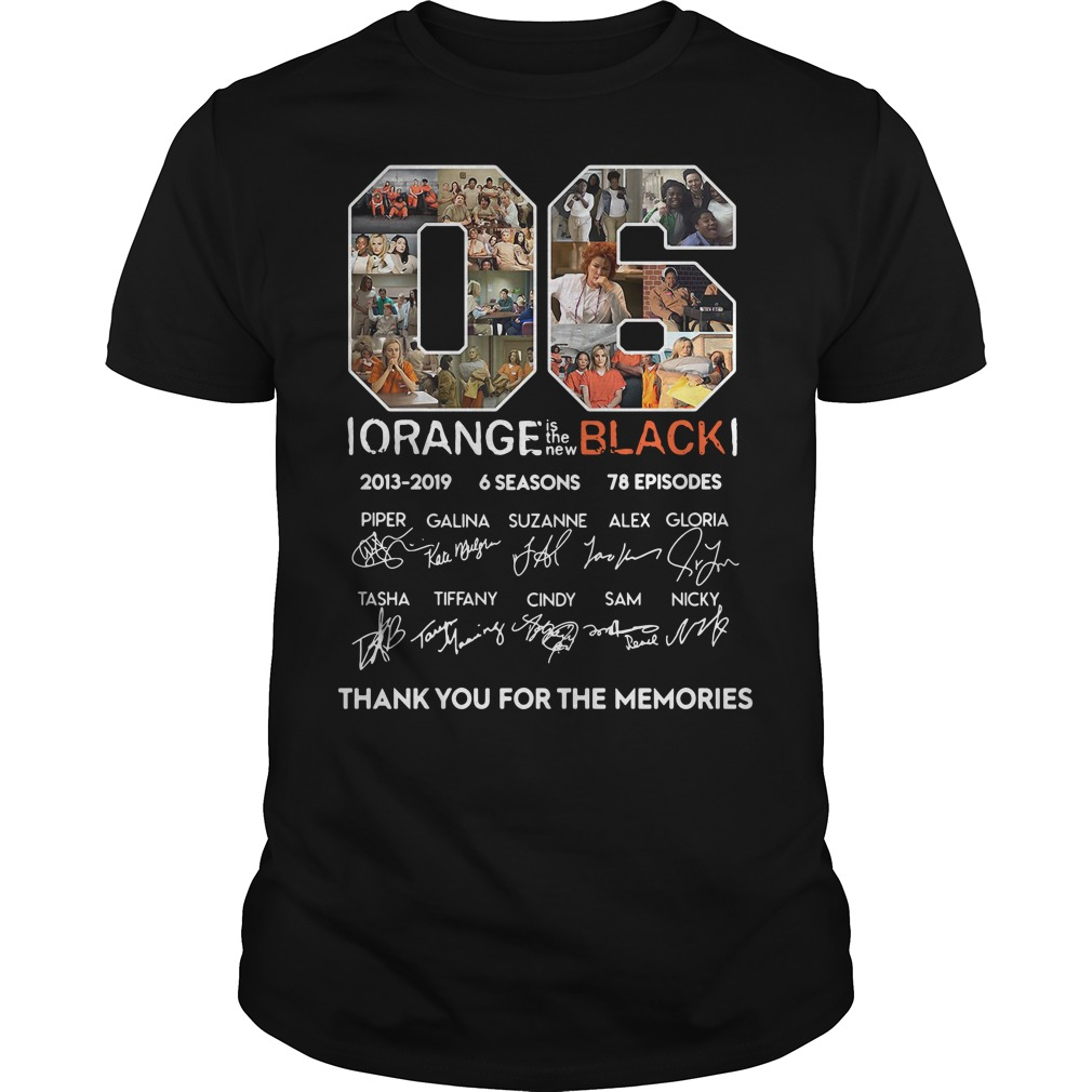 06 years of Orange is the new Black thank you for the memories shirt06 years of Orange is the new Black thank you for the memories shirt