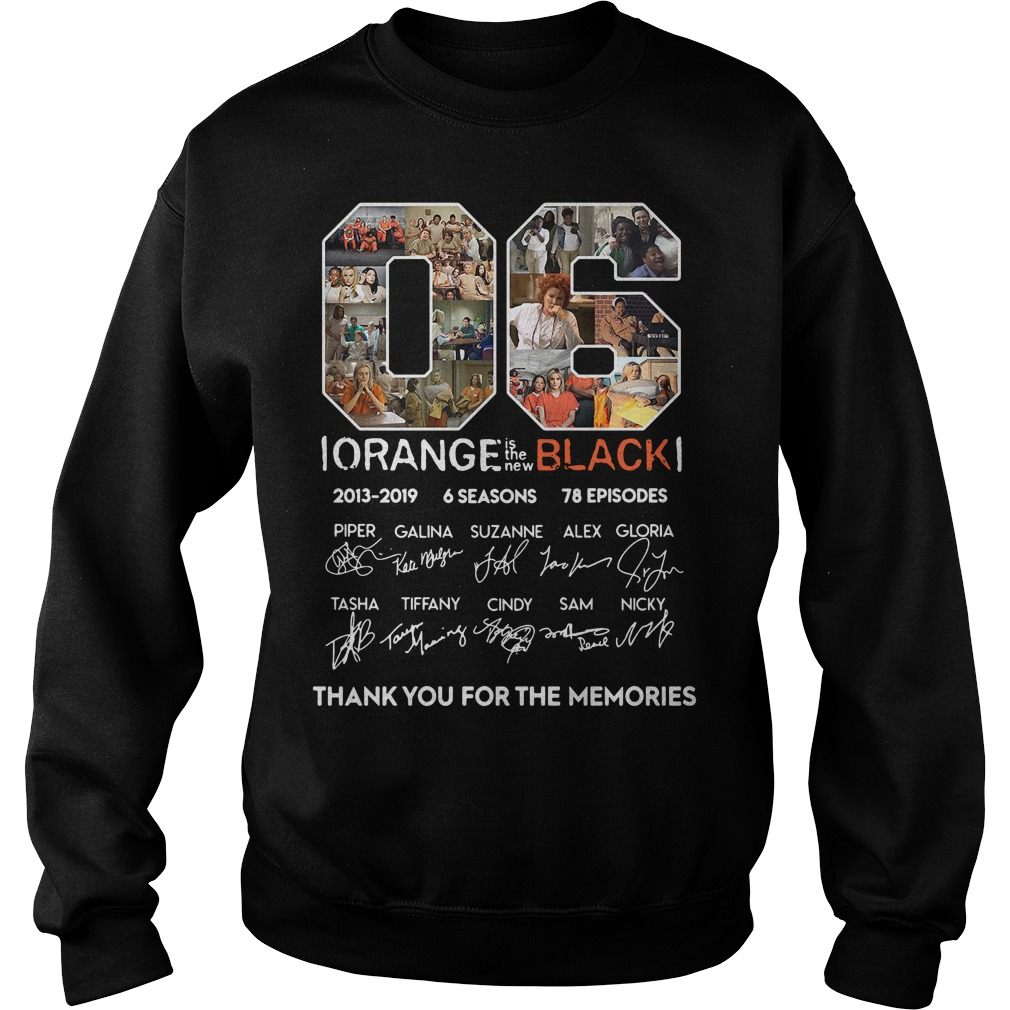 06 years of Orange is the new Black thank you for the memories shirt06 years of Orange is the new Black thank you for the memories sweater