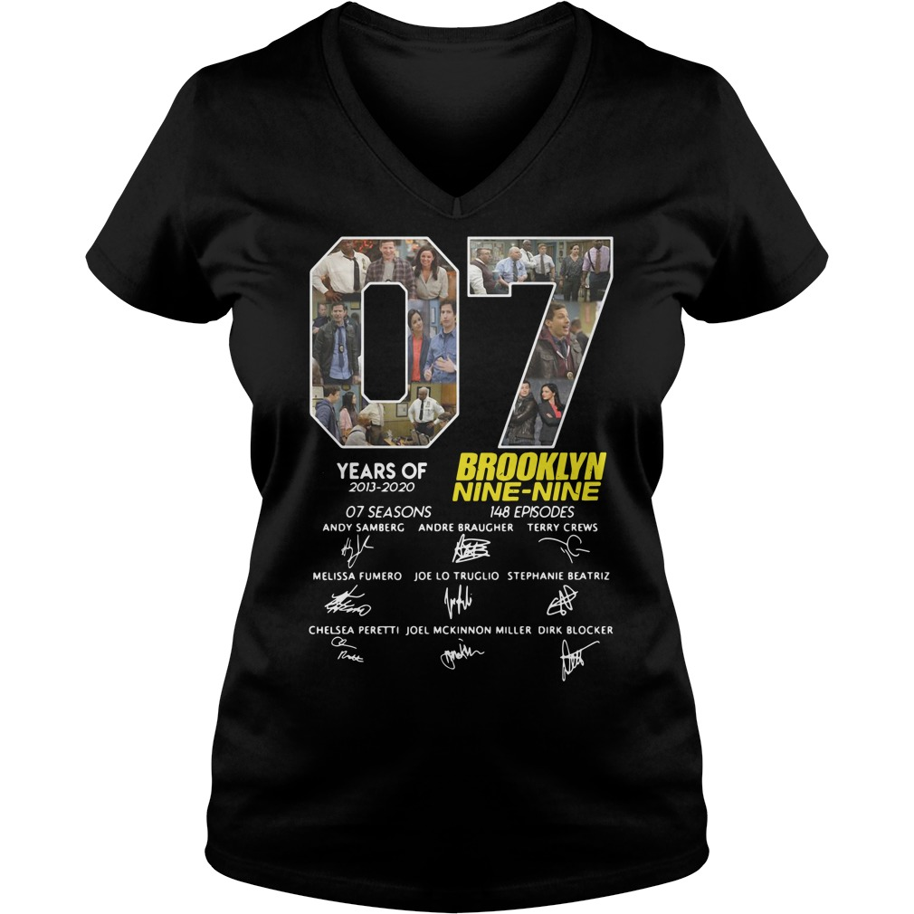 07 Years Of Brooklyn Nine Nine Signature ladies tee