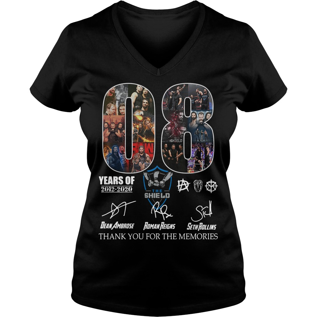 08 years of the SHIELD thank you for the memories signature ladies tee