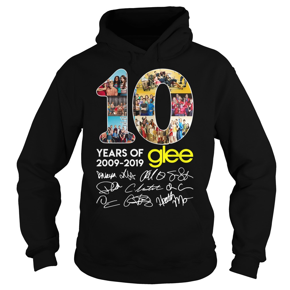 10 years of Glee 2009 2019 signature hoodie
