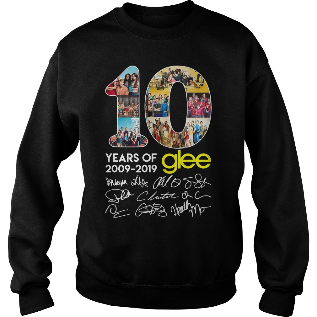 10 years of Glee 2009 2019 signature sweater