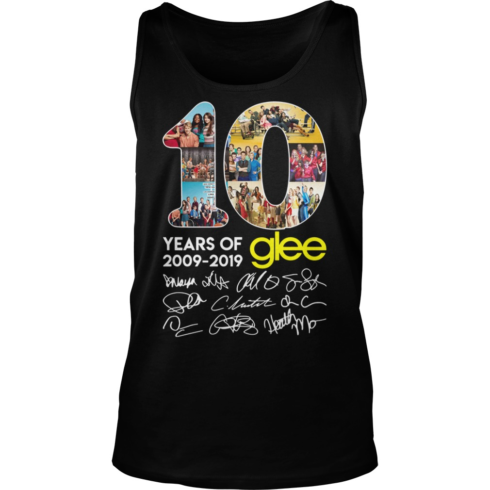 10 years of Glee 2009 2019 signature tank top