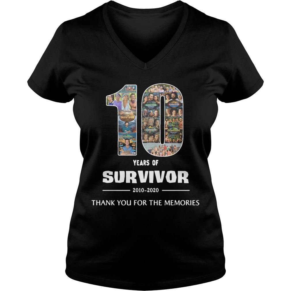10 Years Of Survivor 2010 2020 Thank You For The Memories ladies tee