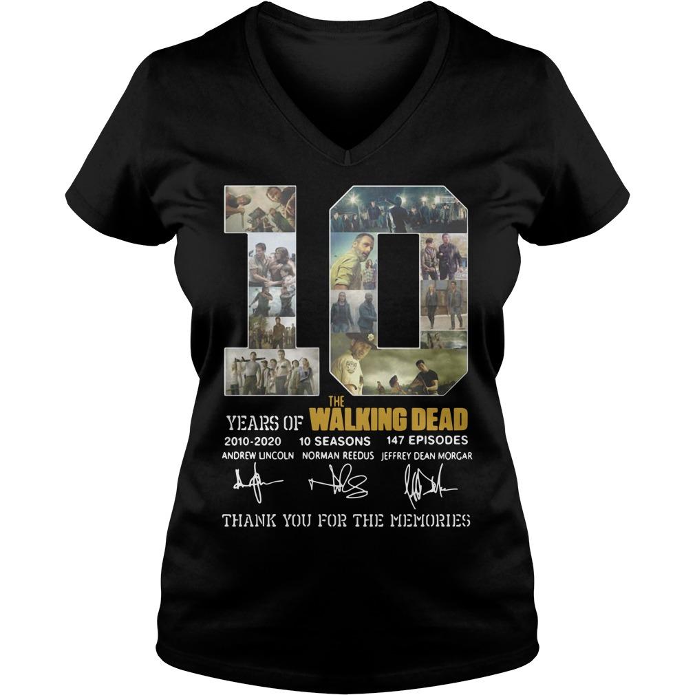 10 Years Of The Walking Dead ladies tee