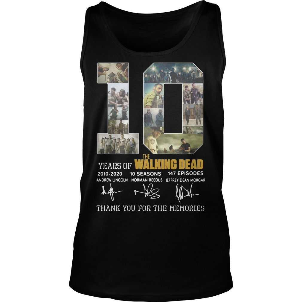10 Years Of The Walking Dead tank top