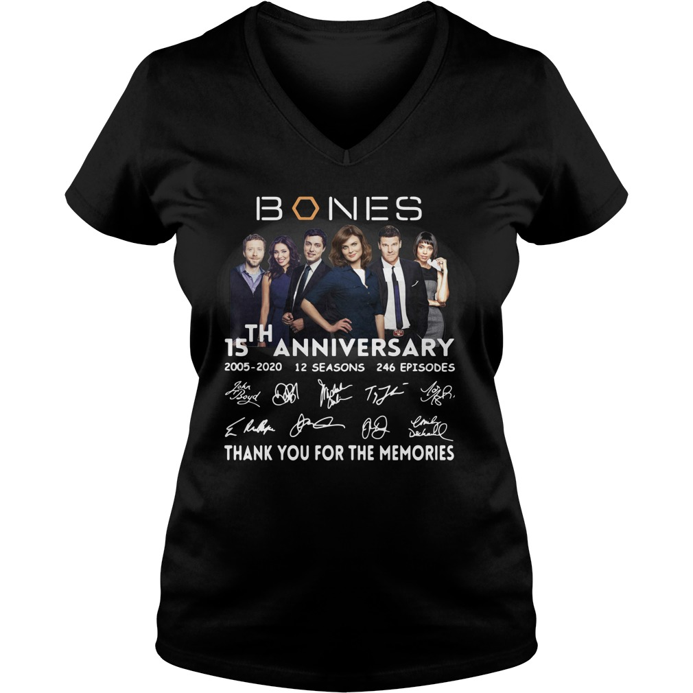 15th anniversary bones thank you for the memories ladies tee
