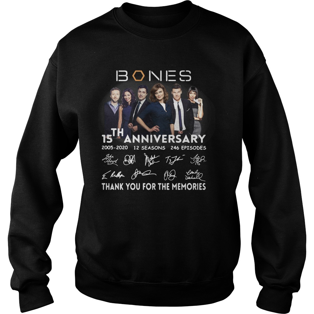 15th anniversary bones thank you for the memories sweater
