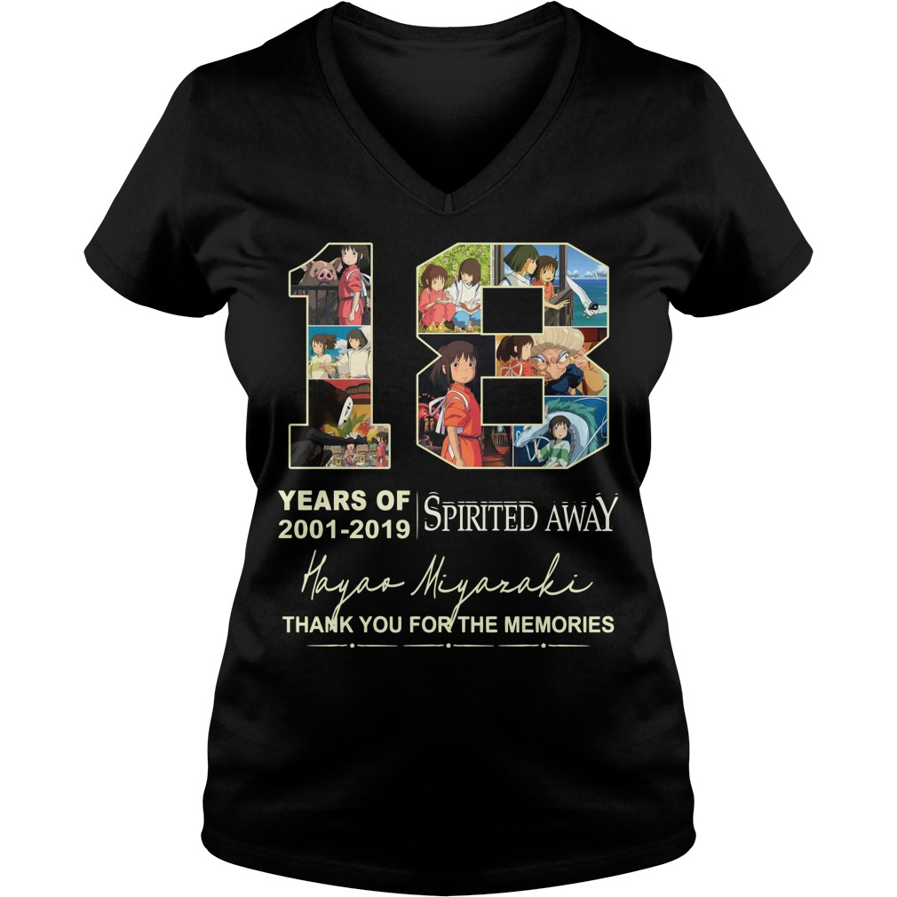 18 Years of Spirited Away 2001 2019 thank you for the memories ladies tee
