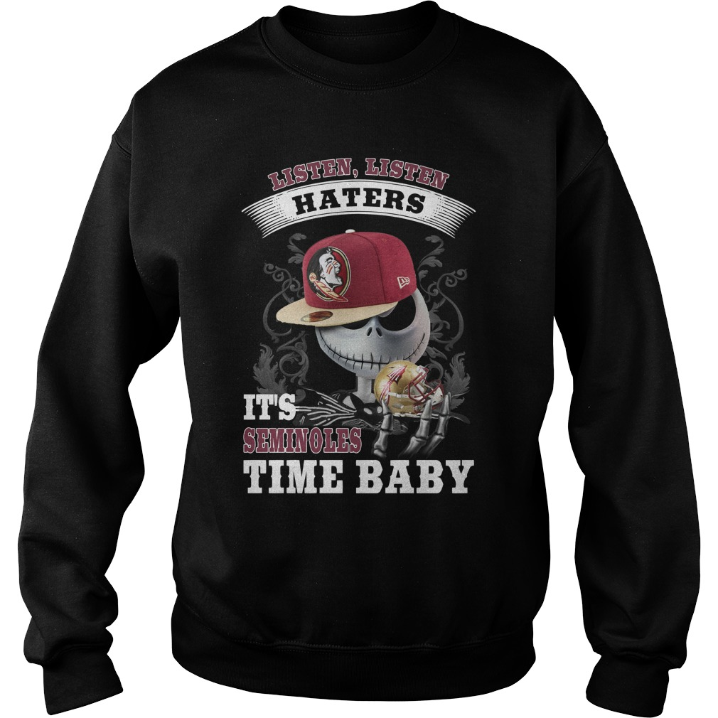 Listen haters Its Florida State Seminoles Time Baby Jack Skellington sweater