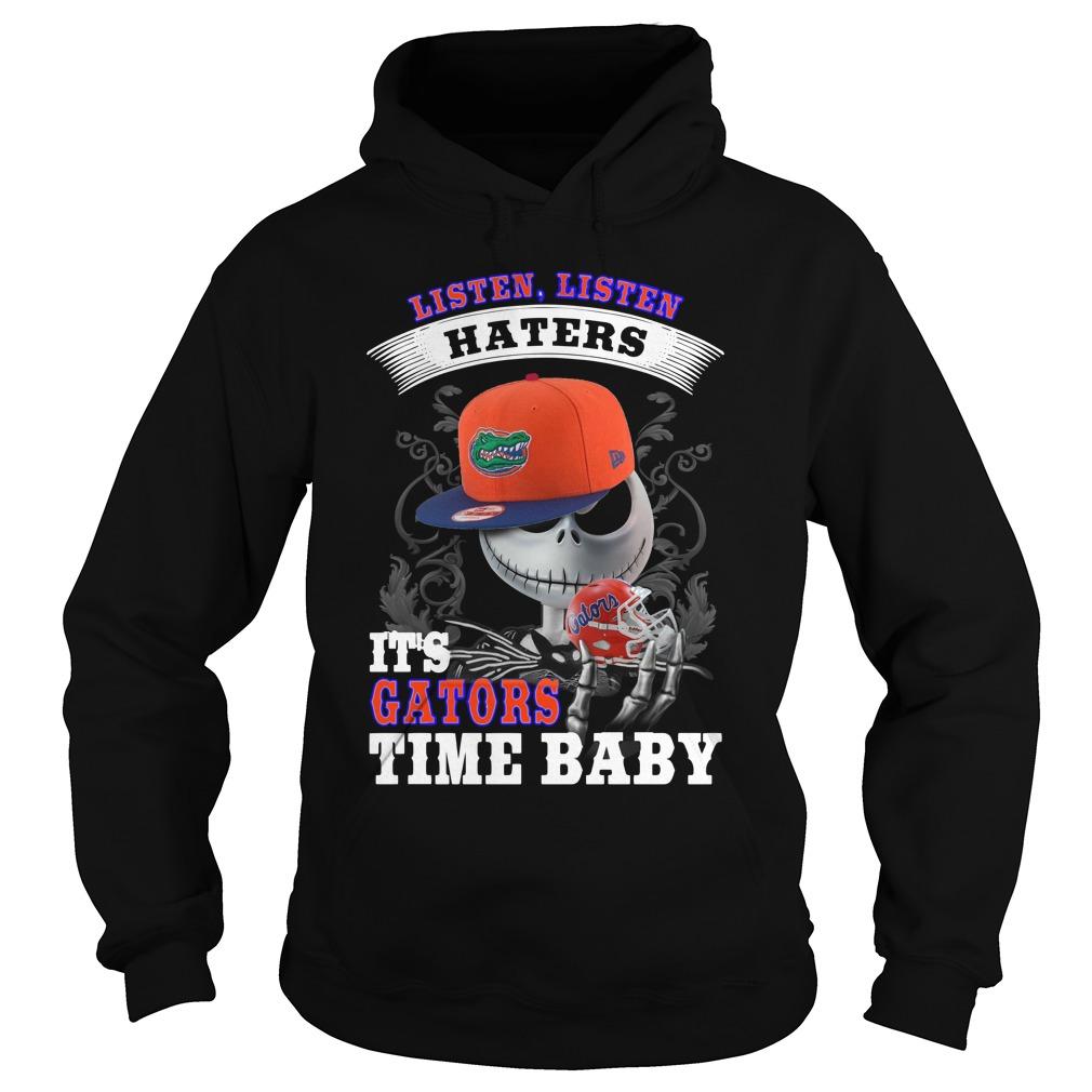 Listen haters It's Gators Time Baby Jack Skellington hoodie