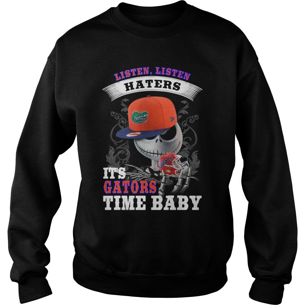 Listen haters It's Gators Time Baby Jack Skellington sweater