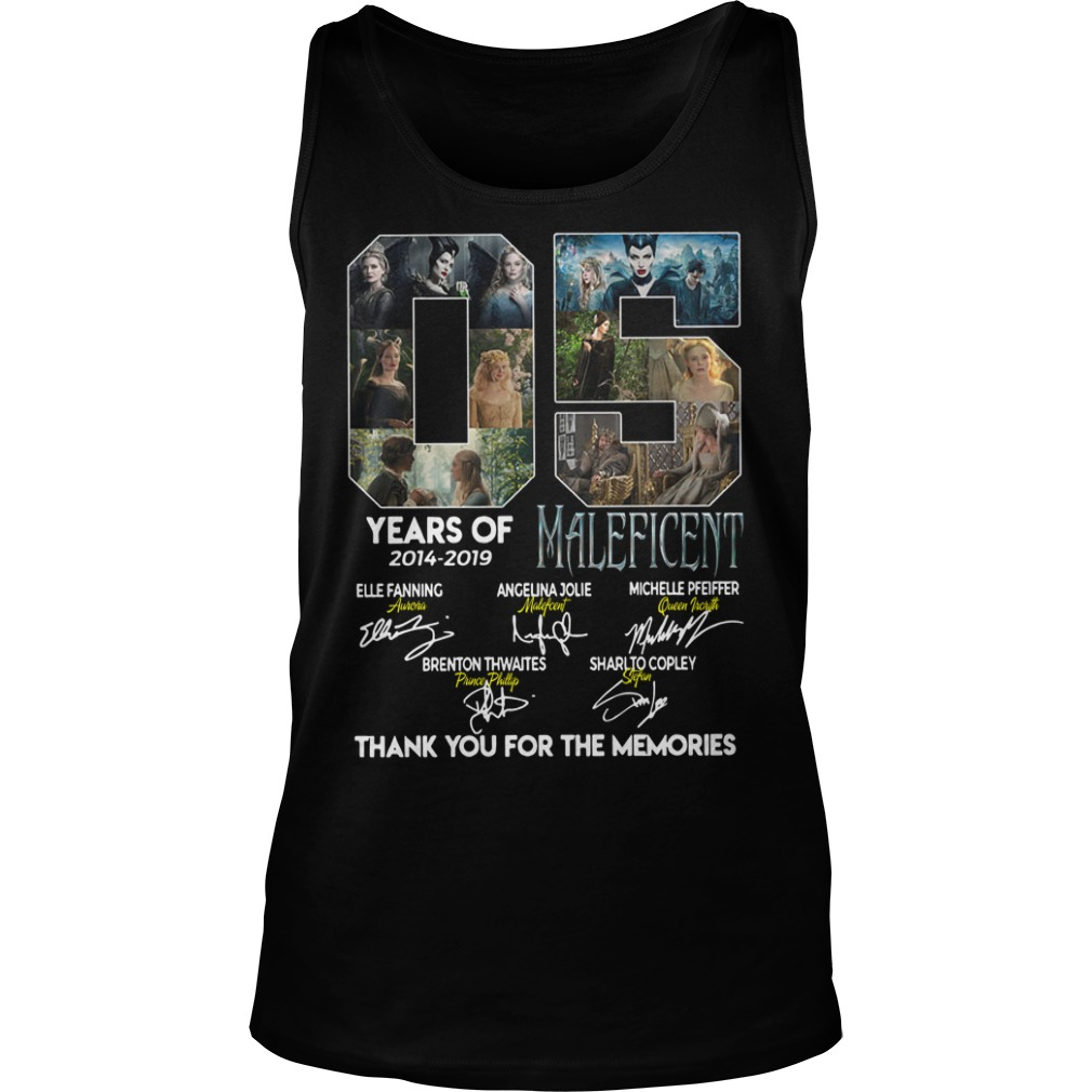 05 Years of Maleficent thank you for the memories tank top